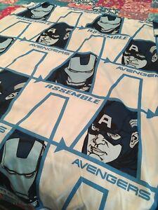 Marvel Avengers Assemble Full Flat Sheet Franco Polyester White