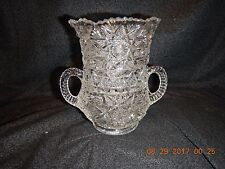 Antique Bryce Ten-Pointed Star Celery Vase 2-Handled Circa 1907