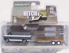 HITCH & TOW SERIES 3 1977 CHEVY G20 VAN FLATBED TRAILER WITH WORKING RAMPS 1:64