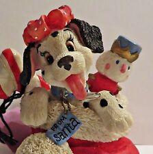 Enesco Disney 101 Dalmatians Spotted For The Holidays Christmas Figurine #278238