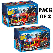 "Pack of 2 Playmobil 5363 Fire Engine with Lights & Sound Set ""Race to the Scene"""