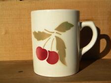 c1930 WILHELMSBURG WILHELMSBURGER KERAMIK TASSE mit Kirschen Made in Austria mug