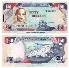 Jamaica 50 Dollars 2008 P-83b Banknotes  aUNC About Uncirculated