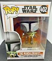 THE MANDALORIAN WITH THE CHILD JETPACK FUNKO POP STAR WARS MANDO FLYING #402 NEW
