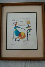 Story People art by Brian Andreas 1993 Beautiful world Bittersweet Framed Signed