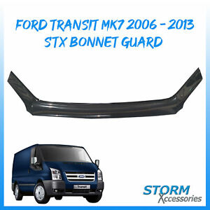 STX BONNET GUARD - STONE/ BUG PROTECTOR – BLACK FOR FORD TRANSIT MK7 2006-2013