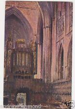 View Of Choir & Organ York Minster Vintage Art Postcard 058b