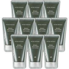 [NATURE REPUBLIC] Snail Solution Foam Cleanser Samples 10pcs - Korea Cosmetics