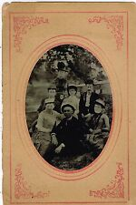 Church Picture Of Clergy And Parishioners Outside For Photo 1880's Tintype