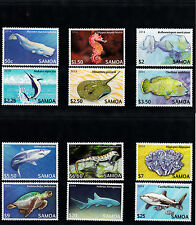 Samoa 2014 MNH Threatened Species Part 2 12v Set Marine Fish Turtles Sharks