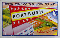 PORTRUSH CO ANTRIM POSTCARD. 1950's IRISH NORTHERN IRELAND.