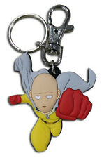 **License** One Punch Man PVC Keychain Caped Baldy Saitama Serious Strike #37250