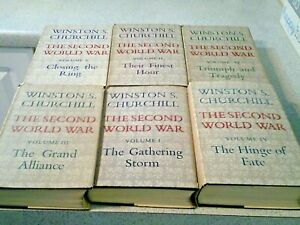 WINSTON CHURCHILL, THE SECOND WORLD WAR-ALL 1ST EDITIONS, HARDBACKS+ FREE BOOKS