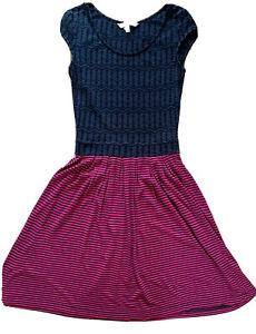 FAT FACE size 8 blue & pink skate style summer sun tea vest dress