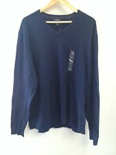 Alfani Sweater Xl Mens Navy Blue Vneck Nwt (546)