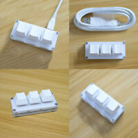 Mini 3-Tasten Tastatur USB Kabel für Windows/Linux/MacOS/Android/Raspberry Pi