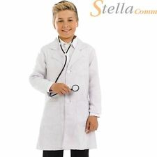 Boys Drs Coat & Stethoscope Costume for Doctor Fancy Dress Kids Childrens
