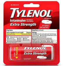 TYLENOL Extra Strength Caplets 10 ea (Pack of 2)