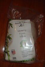 Panda Life Bamboo Memory Foam Pillows - 2 Pack - Queen Size - NIP