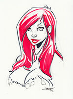 Poison Ivy by Randy Kintz (8.5x11) - Original Comic Art