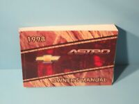 98 1998 Chevrolet Astro owners manual