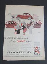 Original 1940 Print Ad TEXACO DEALERS Sky Chief Exaggeration Gluyas Williams