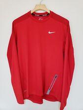 Nike Dynamic Crew Long Sleeve Size Large Men's Warm Running Shirt Red 717797 657
