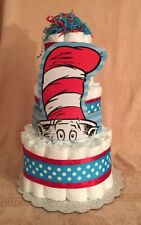 Tier Diaper Cake Dr. Seuss Cat In The Hat Baby Shower Centerpiece