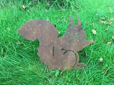 More details for rusty sitting squirrel metal garden art silhouette
