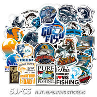 50 Outdoor fishing tackle Stickers bomb Vinyl Laptop Luggage Decals Sticker Cool