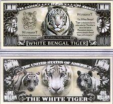 The White Bengal Tiger - Panthera Series Million Dollar Novelty Money