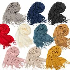 Schal XXL sehr weich Halstuch Stola Unifarben flauschig und warm Damenschal neu