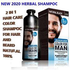 Hair Dye Color Beard Shampoo Permanent Black Colour Men Care New 2020 200ML