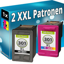 2 TINTE PATRONEN für HP DeskJet 2544 2547 2548 2549 3057A 3059A DRUCKER 301XL wv