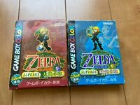 Legend of Zelda Oracle of Seasons and Ages with BOX and Manual japan Gameboy z44