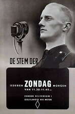 German WW2 Netherlands Waffen Voice of the SS Poster