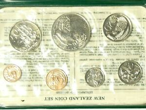 1980 Uncirculated Souvenir Coin Set from New Zealand Treasury by Royal Mint a/f