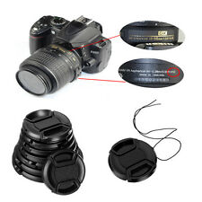 NEW 58mm Center Snap On Front Lens Cap Cover with String Canon Nikon Sony Camera