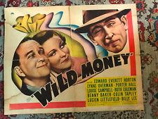 "Wild Money 1937 Paramount 22x28""half sheet Edward Everett Horton Louise Campbell"