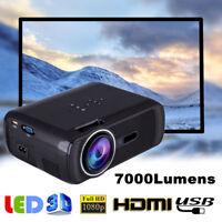 7000LM 3D 1080P LED HD Vidéo Projecteur Home Cinéma Théâtre Multimedia HDMI VGA