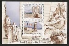FRANCE 2017 Bloc  5136 BATAILLE DE LA CRETE DE VIMY France-Canada NEUF**LUXE MNH