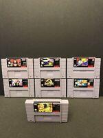 Super Nintendo SNES 7 Video Game Cartridge Lot Spawn Godzilla Judge Dredd + More