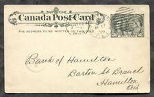 1506 - CHARLOTTETOWN PEI 1899 Jubilee Postcard to Hamilton. Bank Matter