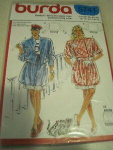 BURDA 5741 JACKET & BALLOON SKIRT Sewing Pattern 8-16 SEALED Vintage