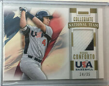 2013 Team USA Baseball MICHAEL CONFORTO Game Used Jersey 34/35 SP