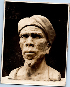 Sculpture chef musulman Vintage silver print  Tirage argentique  10x15  Ci