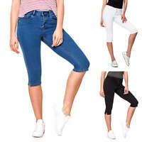 Vero Moda Damen Bermuda Capri Jeans Skinny Fit Denim 3/4 Hose Damenhose