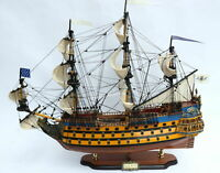 """Soleil Royal Tall Ship Painted Version Model 31"""" Handmade Wooden Model NEW"""