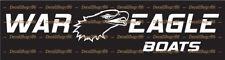 War Eagle Boats - Outdoor Sports - Vinyl Die-Cut Peel N' Stick Decals/Stickers