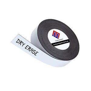 Dry Erase Magnetic Strips - Roll of Writable Whiteboard Magnets - Writable Fl...